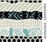 seamless pattern with... | Shutterstock .eps vector #1253425501