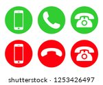 phone icon vector. call icon... | Shutterstock .eps vector #1253426497