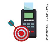 credit card reader and target... | Shutterstock .eps vector #1253435917