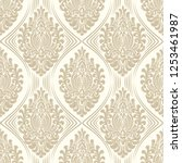 vector damask seamless pattern... | Shutterstock .eps vector #1253461987