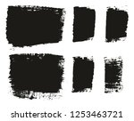 paint brush wide background  ... | Shutterstock .eps vector #1253463721