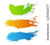 collection of paint splash.... | Shutterstock .eps vector #125346377