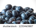 group of blueberries on a white ... | Shutterstock . vector #1253465887