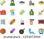 color flat icon set teflon flat ... | Shutterstock .eps vector #1253473444
