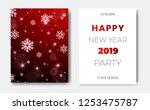 set of 2 happy new year night... | Shutterstock .eps vector #1253475787