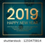 2019 happy new year background... | Shutterstock .eps vector #1253475814