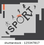 vector set web icons. sport and ... | Shutterstock .eps vector #125347817
