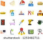 color flat icon set drill... | Shutterstock .eps vector #1253482711