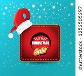 vector christmas sales paper... | Shutterstock .eps vector #1253505397