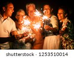 group of people have fun... | Shutterstock . vector #1253510014