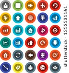 white solid icon set  graph... | Shutterstock .eps vector #1253531161