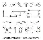 hand drawn infographic elements ...   Shutterstock . vector #1253535091