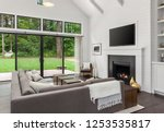 living room interior with... | Shutterstock . vector #1253535817