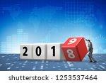 businessman employee rotating... | Shutterstock . vector #1253537464