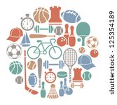 round card with sport icons | Shutterstock .eps vector #125354189