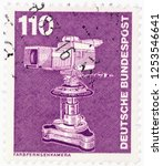 germany   circa 1982  a postage ... | Shutterstock . vector #1253546641
