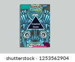cover layout with tutan mask... | Shutterstock .eps vector #1253562904
