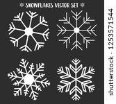 winter snowflakes. christmas... | Shutterstock .eps vector #1253571544