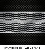 Vector Metal Grill on Carbon Fiber Background - Eps10 - stock vector