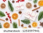 christmas decor on the old... | Shutterstock . vector #1253597941