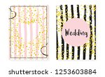 bridal shower card with dots... | Shutterstock .eps vector #1253603884