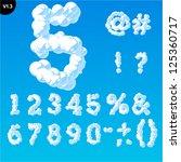 vector illustration of cloud... | Shutterstock .eps vector #125360717