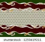 border with belts  chain and...   Shutterstock .eps vector #1253619211