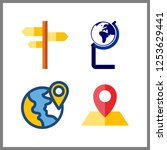 4 continent icon. vector...   Shutterstock .eps vector #1253629441