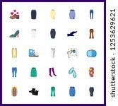 25 shoes icon. vector... | Shutterstock .eps vector #1253629621