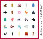 25 shoes icon. vector... | Shutterstock .eps vector #1253629681