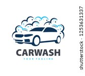 car wash service logo vector.... | Shutterstock .eps vector #1253631337