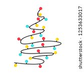 shape of christmas tree... | Shutterstock .eps vector #1253633017