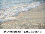 sea foamy waves seashore  | Shutterstock . vector #1253634547