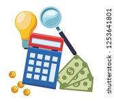 accounting calculator icon | Shutterstock .eps vector #1253641801