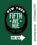 new york fifth avenue cool dude ... | Shutterstock .eps vector #1253642797