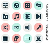 multimedia icons set with... | Shutterstock . vector #1253660497