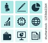 trade icons set with agreement  ... | Shutterstock .eps vector #1253662264