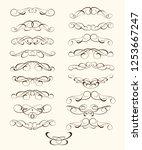 set calligraphic design... | Shutterstock .eps vector #1253667247