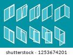 isometric modern white plastic... | Shutterstock .eps vector #1253674201