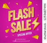 flash sale banner template... | Shutterstock .eps vector #1253687494