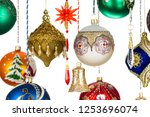 christmas tree toys  balls ... | Shutterstock . vector #1253696074