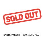 sold out stamp on white... | Shutterstock . vector #1253699767