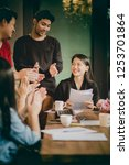 asian freelance team project... | Shutterstock . vector #1253701864