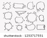 hand drawn set of paint... | Shutterstock .eps vector #1253717551