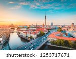classic view of berlin skyline... | Shutterstock . vector #1253717671