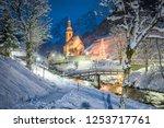 beautiful twilight view of...   Shutterstock . vector #1253717761