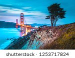 classic panorama view of famous ... | Shutterstock . vector #1253717824