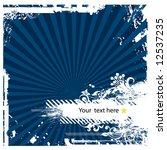 grunge floral vector design 2 ... | Shutterstock .eps vector #12537235