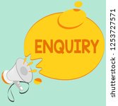 writing note showing enquiry.... | Shutterstock . vector #1253727571