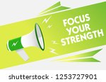 word writing text focus your... | Shutterstock . vector #1253727901